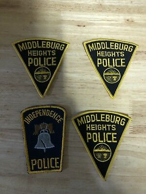 mixed lot police patch Independence And Middleburg Heights Ohio