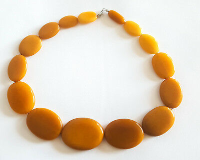 63g Antique Egg Yolk Butterscotch Natural Baltic Amber Necklace Bernstein ambar