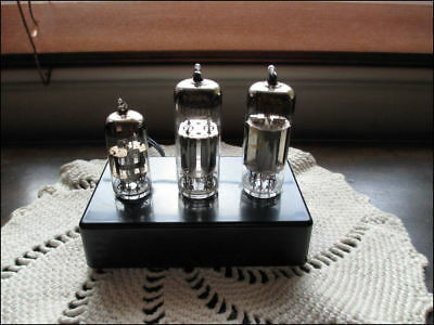 Radio Vacuum Tube Light Fixture ~ Vintage Technology & Modern LEDs ~ Free S/H