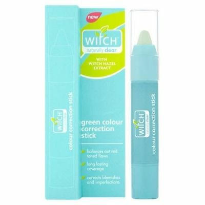 Witch Naturally Clear Green Colour Correction Stick with Witch Hazel 1x2g NEW