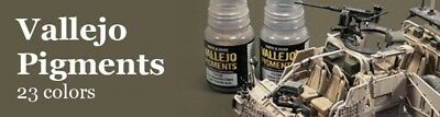 ACRYLICOS VALLEJO BOTTLE PIGMENTS (35 ml.), WASH (35 ml:), WEATHERING (40 ml.)