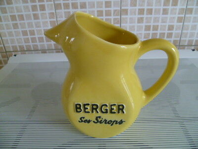 Pichet Berger Ses Sirops Jaune 1 Litre Made In France C-8