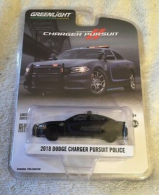 1 - 2018 Dodge Charger Pursuit Police Greenlight 1:64 Limited Edition Dodge Law