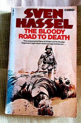 1977 FIRST CORGI pb SVEN HASSEL THE BLOODY ROAD TO DEATH GOOD CONDITION
