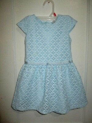 ⚡ sale. CARTERS GIRLS  DRESS SIZE 3/3T..BABY BLUE..LINED,,WORN 1X..EXC..LACY