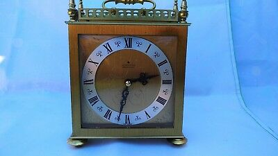 Rare Vintage Junghans ATO-Electronic Carriage Mantel Lantern Clock West Germany