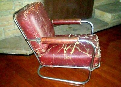 KEM Weber C-36 1/2 Lounge Chair Art Deco Machine Age