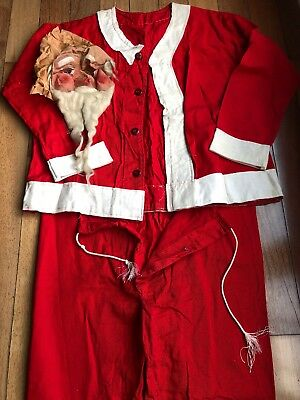Antique 1930s Full Size Santa Claus St. Nick Suit Outfit Costume Christmas NORES