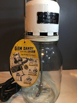 Gem Dandy Electric Butter Churn 4 Qt W/ Tag Birmingham, Alabama 1953