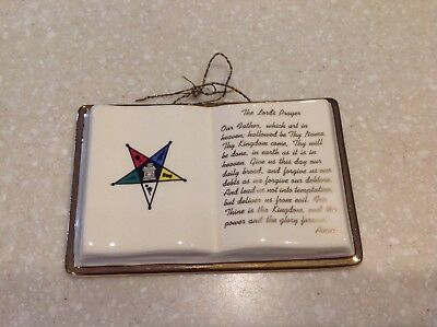 *Order of the Eastern Star* Vintage OES Porcelain The Lords Prayer