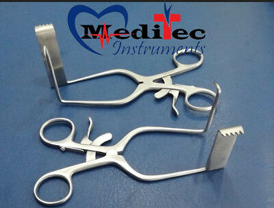 William Type Discectomy retractor Left & Right Surgical instruments 2pcs set