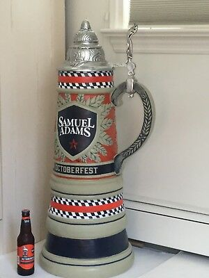 Huge Promotional Samuel Adams Oktoberfest Beer Stein