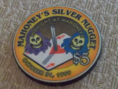 MAHONEY'S SILVER NUGGET CASINO $5 hotel gaming chip ~ N.Las Vegas, NV
