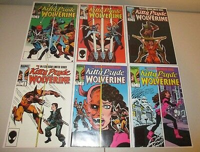 Kitty Pryde and Wolverine #1-6 (Full 1984 Marvel Series)  High Grade Set, VF/NM