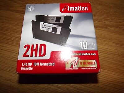 "Imation 3,5"" Zoll 1,44 MB 2HD Disketten 10 Stück IBM Made in USA in OVP"