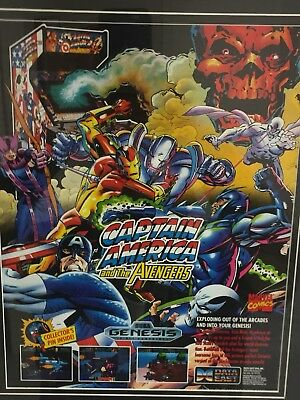 Vintage Captain America And The Avengers Sega Genesis Video Game Add