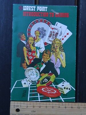 """1 x VINTAGE WRETS POINT CASINO BROCHURE """"INTRODUCTION TO GAMING"""" BW4"""
