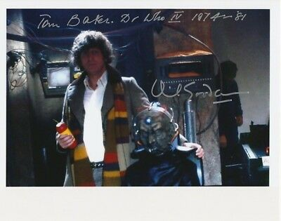 Tom Baker & David Gooderson In Person Signed Photo - AG27 - Doctor Who