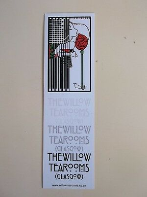 The Willow Tearooms of Glasgow Scotland Cardboard Book Reading Bookmark