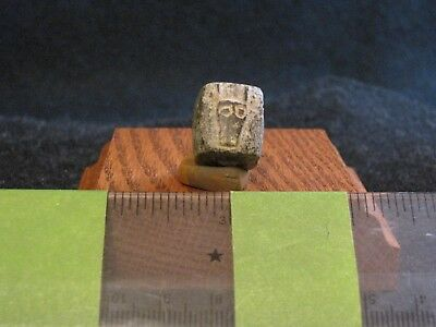 Pre Columbian, Stone, Aztec, Pendant, Necklace, Bead, L/Post Class. 1500 1600 AD