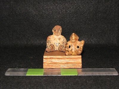 Pre Columbian, Pottery, Costa Rican, Figures from the Diquis Region,1200 1500 AD