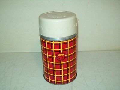 Vintage Thermos brand Vacuum Bottle wide mouth Pint size no. 5254 1950's