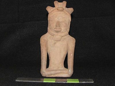 "Pre Columbian, Pottery, Choice Vera Cruz ""Coast Watcher"", L/ Clas 600  900 A.D."