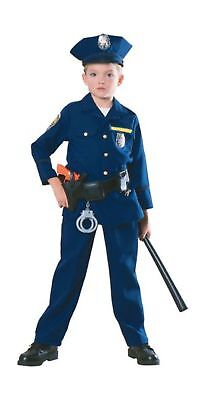 Police Officer Cop Blue Uniform Career Day Halloween Child Small Costume  882114