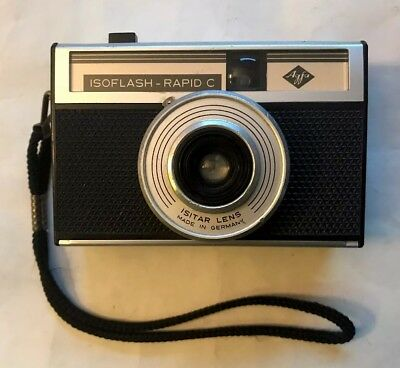 Vintage Agfa Isoflash-Rapid Camera w/ ISITAR Lens Made in Germany