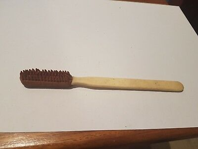 Rare Vintage Bone Handle Patented Rubber Head Tooth Brush