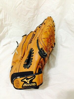 Mizuno Gpl1153 Leather Youth 11.5 Baseball Glove For Rht Power Close Ii Prospect