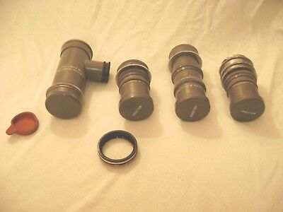 Vintage Lot Of 4 Wollensak Lenses Oscilloscopic Original Fresh Estate Find Wow