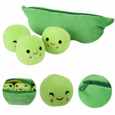 3 Peas in a Pod Plush Pillow Emoticons Toy Plush Soft Kids Toys Gifts 25cm