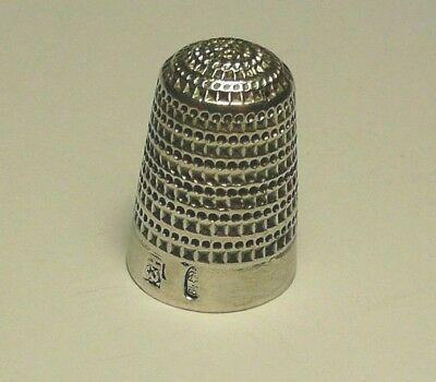 Thimble Imperial Russian 84 Silver Moscow 1899