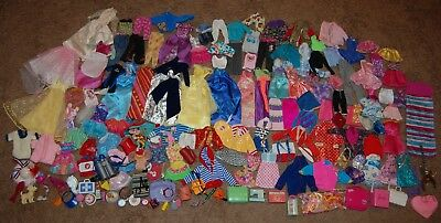 Lot of 100 Barbie Doll Clothes & Accessories Some Vintage