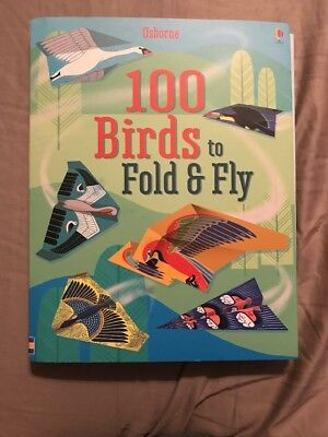 Usborne BRAND NEW 100 Birds To Fold And Fly Book