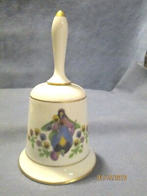 Vintage Sweet Fairy Bell Enchanted Flower Pansy Franklin Fine Bone China