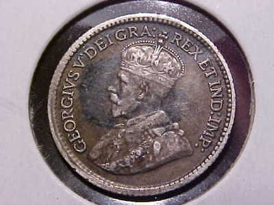 1914 Canada 5 Cents in VF