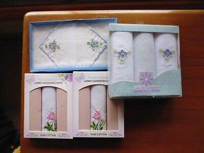 Vintage ladies Embroidered handkerchiefs