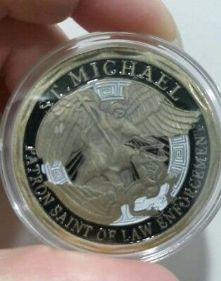 St Michaels challenge coin in case