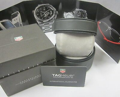 TAG Heuer Watch Gift Presentation Travel Zipper Case Box Brochure Guarantee Card