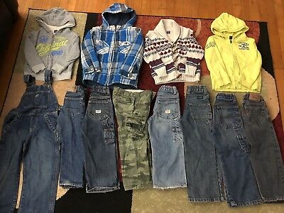 Preowned Big Winter Mixed Lot Of Boys Clothes Size 4T