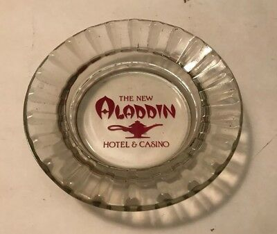Aladdin Hotel & Casino  Las Vegas  Glass Ashtray  Gambling