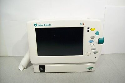 Datex Ohmeda S/5 Patient Monitor No Power Supply Partially Tested