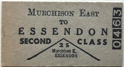VR Ticket - MURCHISON EAST to ESSENDON - 2nd Class Single