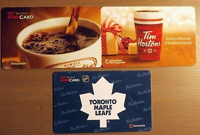 TIM HORTON Gift Card (NO Monetary value) Collectibles Only