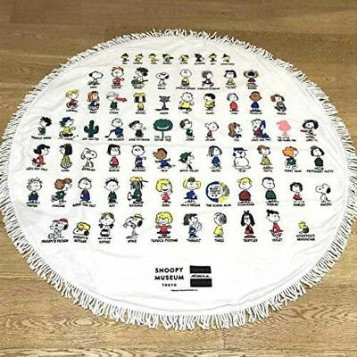 Snoopy Museum TOKYO Limited PEANUTS All Characters Round Mat Rare Japan Tracking