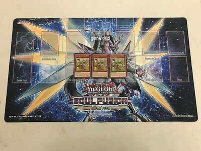 Yugioh Mat Soul Fusion Sneak Peek Playmat Token Collector Cyberse Clock Dragon