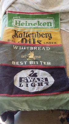 Bar Mats x 4.beer,ale,home brew,man cave,house,workshop,tools,shed,collectable.