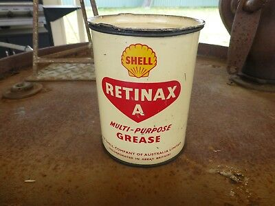 Nice Shell Retinax A Grease Oil Tin One Pound Size